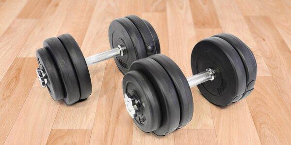 Profi jednoruční činky 2 x 15 kg