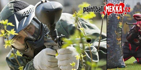 149 Kč za časově neomezenou paintballovou přestřelku včetně 100 kuliček!