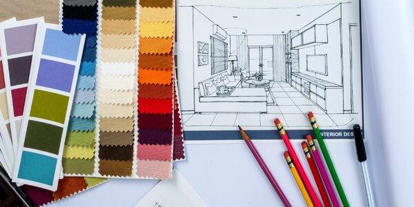 3D návrh místnosti od bytové designérky