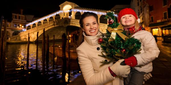 Celodenní předvánoční romantika v Benátkách