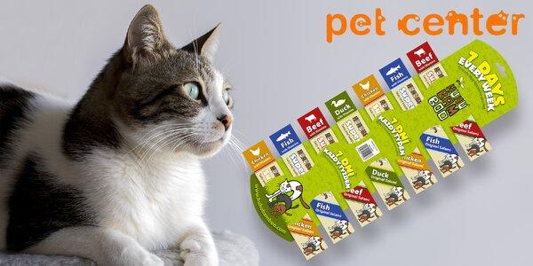 7 salámků Huhubamboo pro kočičky
