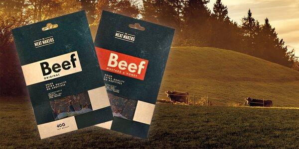 """Kvalitní sušené hovězí maso bez """"éček"""" a glutamanů"""