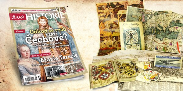 Předplatné časopisu Živá historie 2017 se spoustou dárků