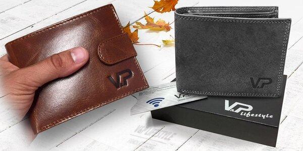 Pánské kožené peněženky v dárkové kazetě