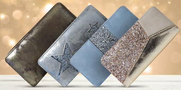 Dámské lesklé peněženky s praktickým členěním