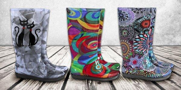 I v deštivém dni můžete zářit: Designové holínky