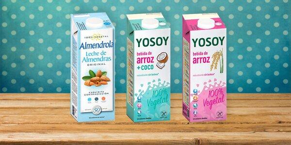 Rýžové a mandlové nápoje bez lepku a laktózy