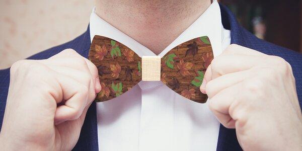 Elegantní doplněk: Dřevěný pánský motýlek