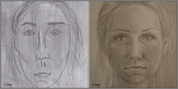 Obrázek osobního úspěchu – kresba a autoportrét