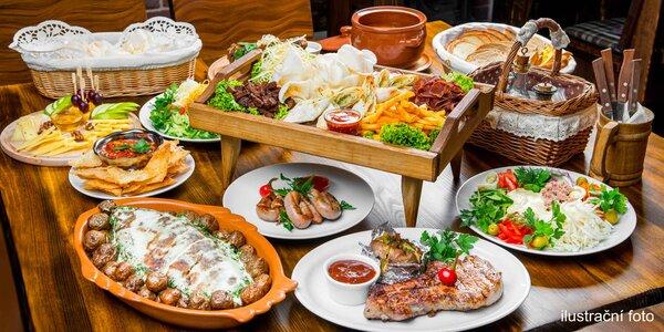 Raut až pro 8 jedlíků v restaurantu Flora