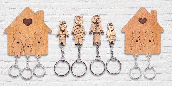 Dřevěné domečky na klíče