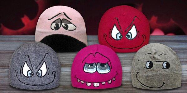 Originální fleecové čepice Mess Crazy Caps