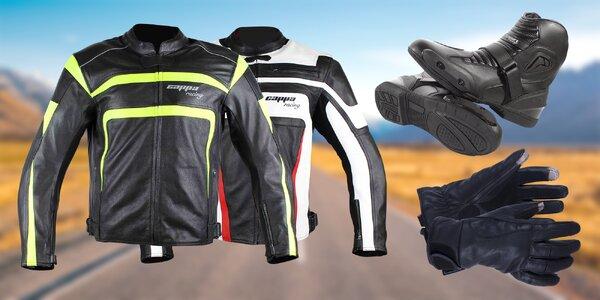 Rukavice, boty a bundy nejen pro motorkáře
