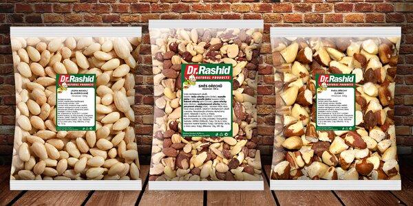 Arašídy, mandle nebo výborná směs ořechů