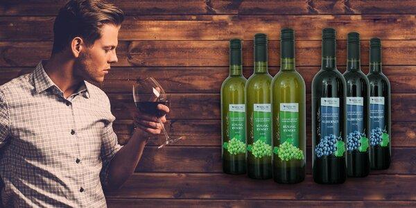 Exkluzivní kolekce bílých a červených vín