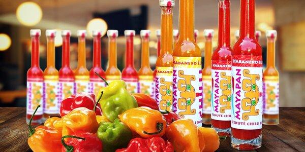 100% šťáva z chilli papriček odrůdy Habanero