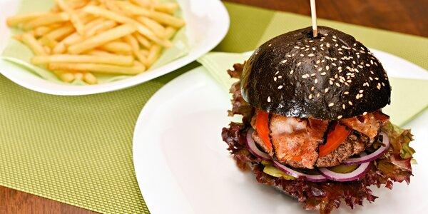 Hamburger výběrem ze 12 druhů u Divoké Šárky