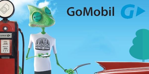 Předplacená karta GoMobil s kreditem 200 Kč
