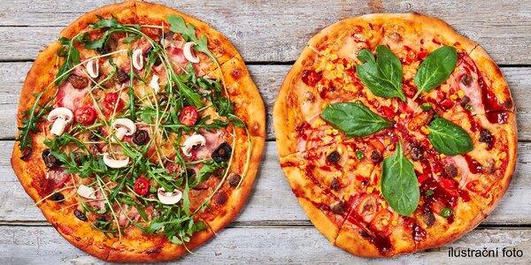 2x pizza o průměru 36 cm výběrem z 11 druh