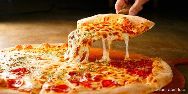 Jedna nebo dvě pizzy s sebou z bistra na Andělu