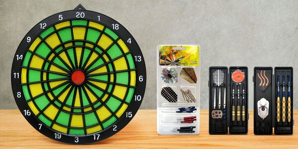 Značkové šipky Sport Darts, terče a náhradní díly