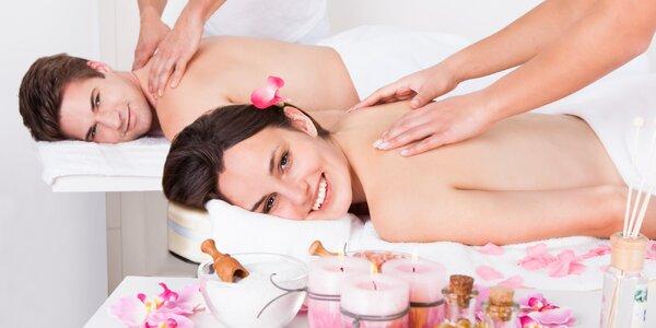 Relax pro dva: masáž dle výběru s aroma lázní