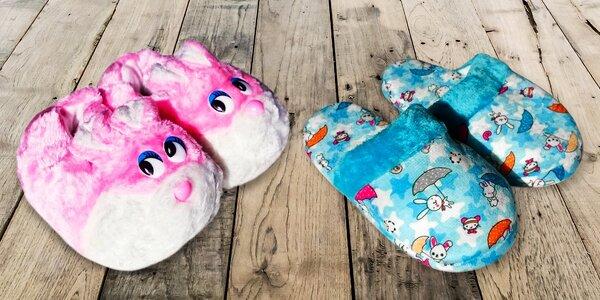 Roztomilé dětské papuče ve vícero barvách