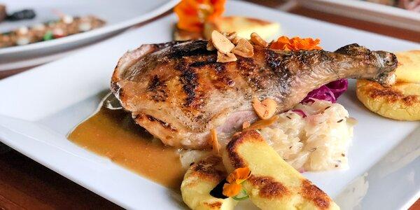Svatomartinské menu na Chodově: 4 chody a víno