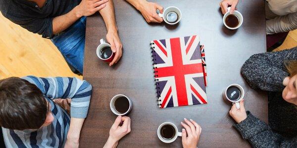 10 lekcí anglické konverzace v kavárně v centru
