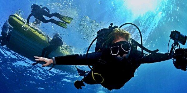 Ponor na zkoušku nebo základní kurz potápění