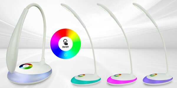 Úsporná LED lampička s dotykovým ovládáním jasu