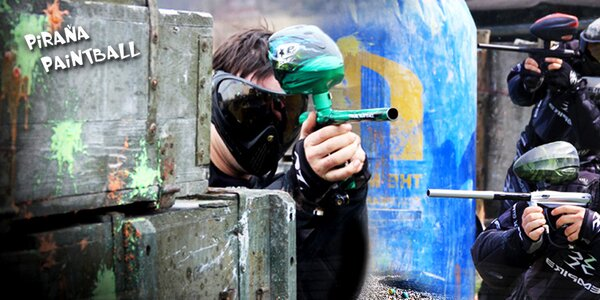 Adrenalinový paintball se 3 hřišti na výběr