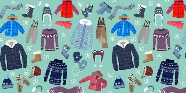 Teplé oblečení a boty pro celou rodinu