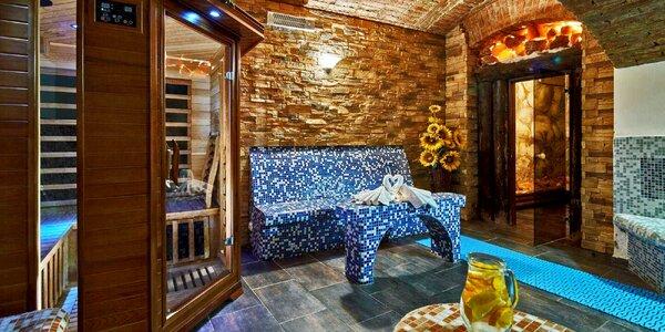 Romantika pod Řípem s privátní saunou i jídlem