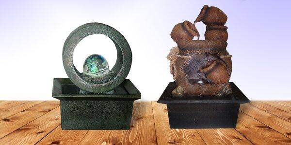 Pokojové fontány ve dvou různých designech