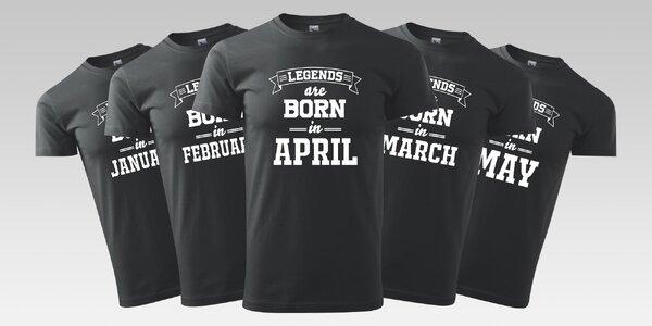 Pánské tričko s vtipným narozeninovým potiskem