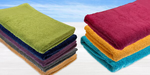 Osušky a ručníky vyrobené ze 100% bavlny v různých barvách