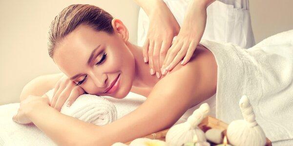 60 minut relaxace s masáží dle výběru