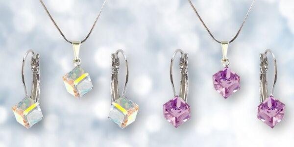 Elegantní šperky Swarovski ve tvaru kostky nebo srdíčka
