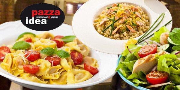 Konzumace v restauraci Pazza Idea v hodnotě 400 Kč a 600 Kč