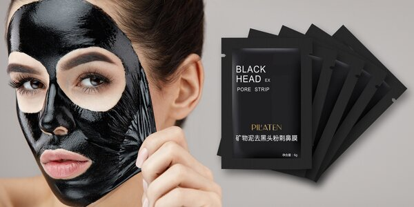 10x pleťová maska Pilaten na černé tečky