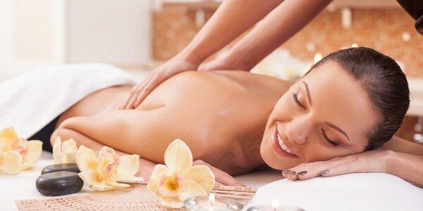 Hýčkání pro náročné: 100 minut relaxace vč. masáže