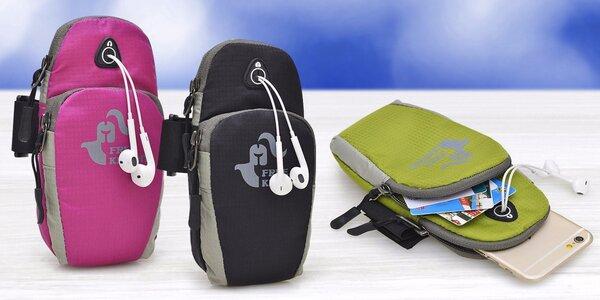 Sportovní pouzdro na mobil s páskem na paži