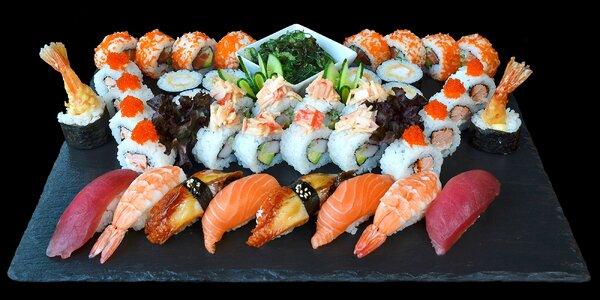 Až 44 kusů sushi v luxusní japonské restauraci