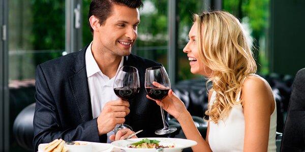 Zamilované menu: 4 chody a láhev vína pro 2