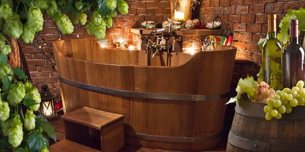 Relaxační pivní nebo vinná koupel pro dva