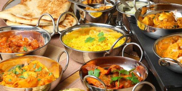Exotické indické menu dle výběru pro čtyři osoby
