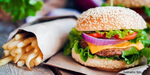 2x Královský burger a hranolky s rozvozem