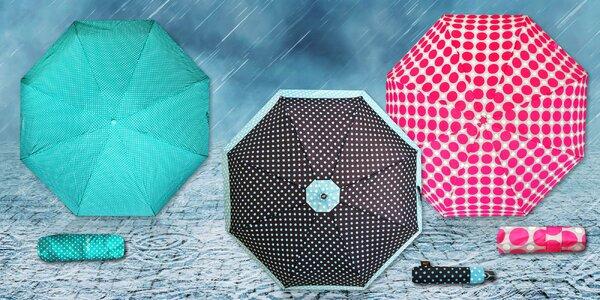 Originální dámské puntíkaté deštníky