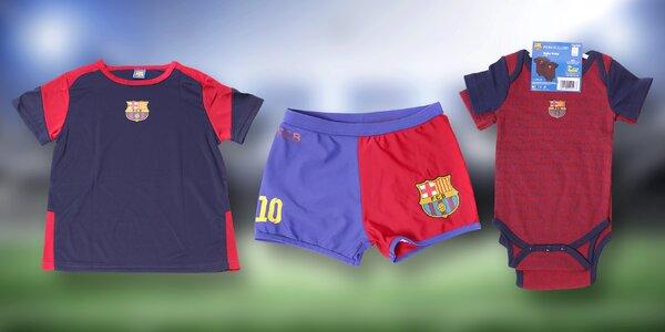 Dětské dresy, bodyčka a osušky FC Barcelona